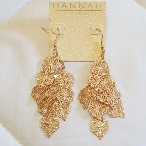 Hannah Gold Tone Chandalier Earrings